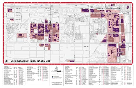 "Chicago Campus Boundary Map (17"" X 11"")"