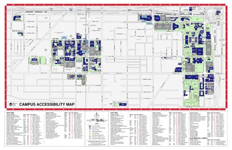 "Accessibility Campus Map (17"" X 11"")"