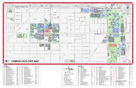 "Campus Facilities Map (17"" X 11"")"